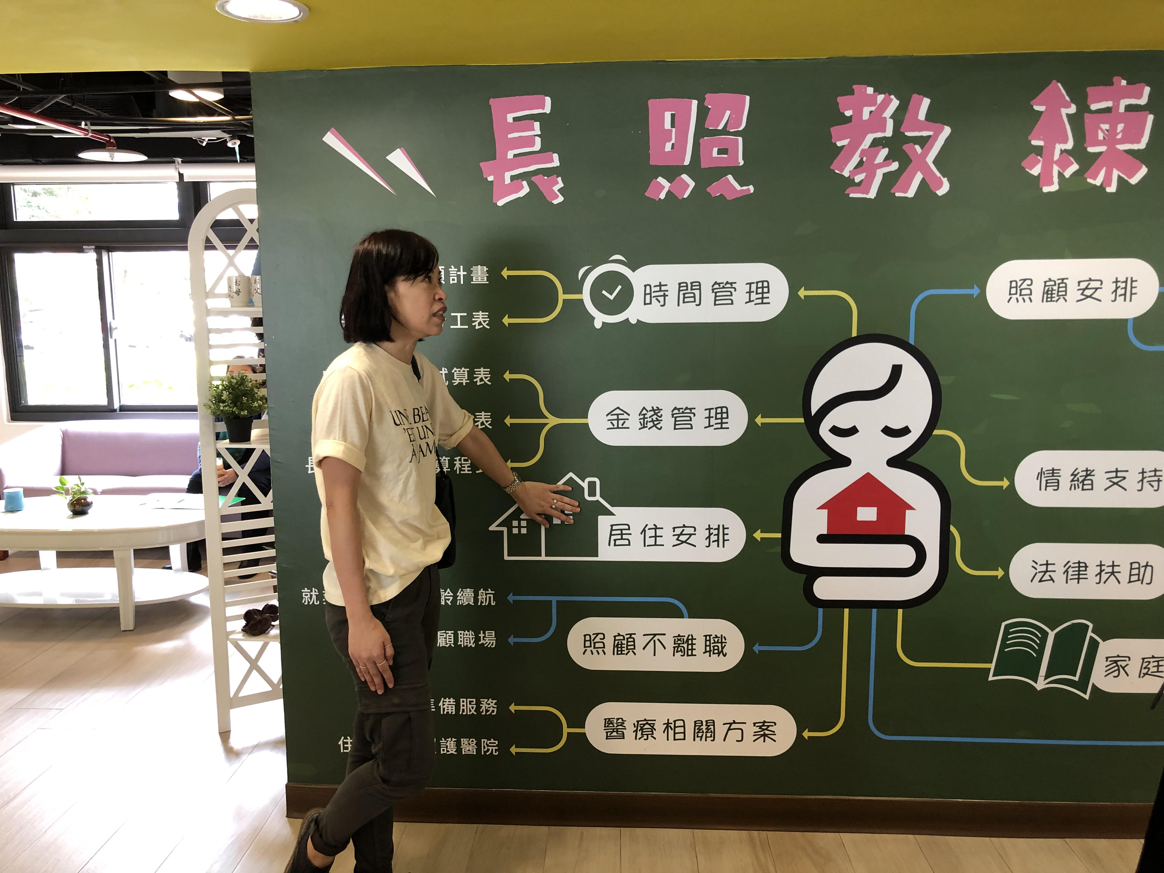 Poster at the New Centre for Care cafe in Taiwan