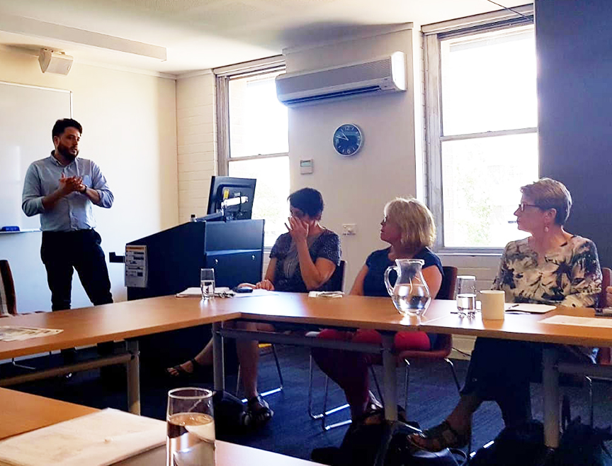 Patrick Hall presenting at the University of New South Wales in Australia