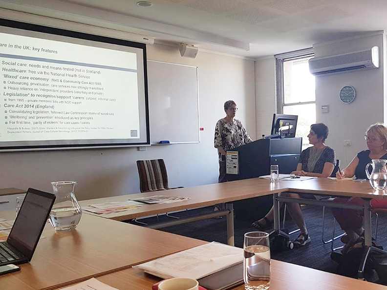 Sue Yeandle presenting at the University of New South Wales in Australia