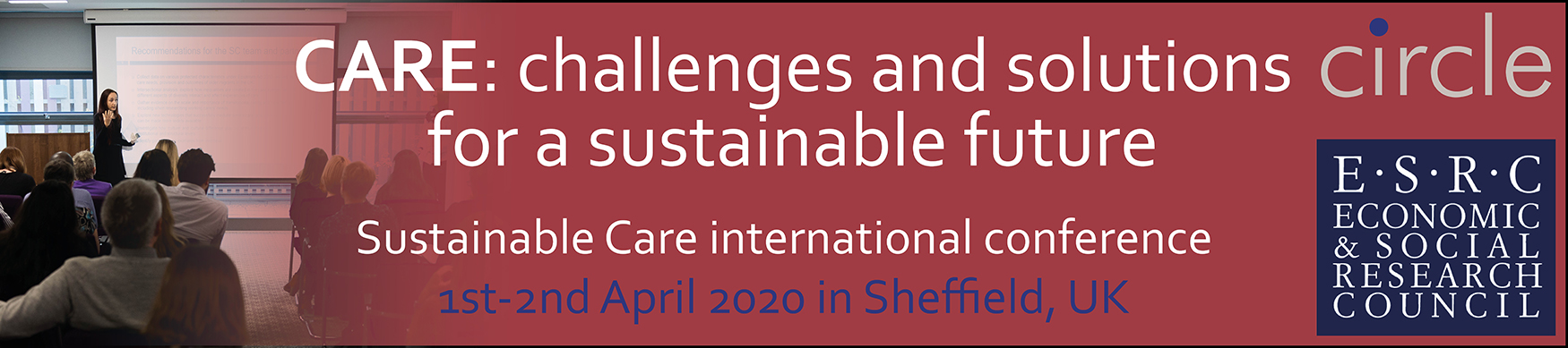 Sustainable Care international conference banner