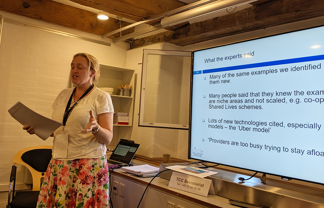 Cate Goodlad presenting at the Transforming Care Conference in Copenhagen