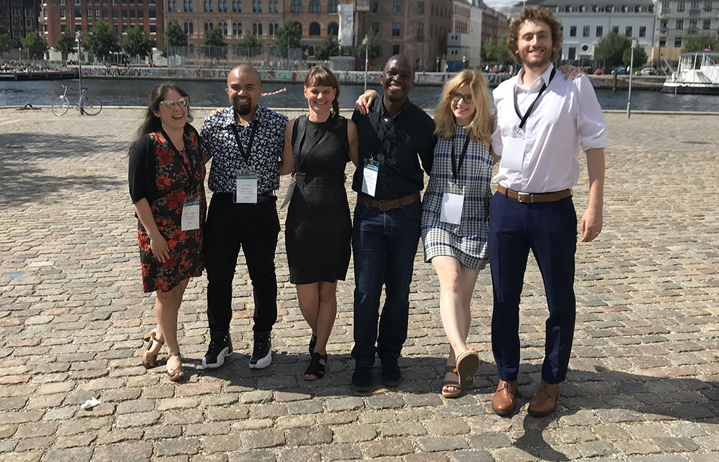 Members of the Sustainable Care Early Career Researcher network at the Transforming Care Conference in Copenhagen