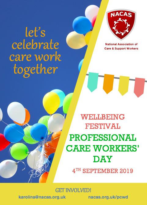 Professional Care Workers' Day 2019 promotional poster