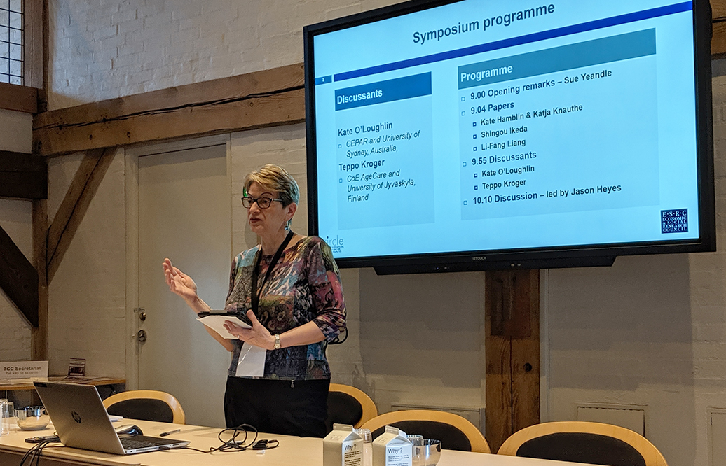 Sue Yeandle presenting at the Transforming Care Conference in Copenhagen