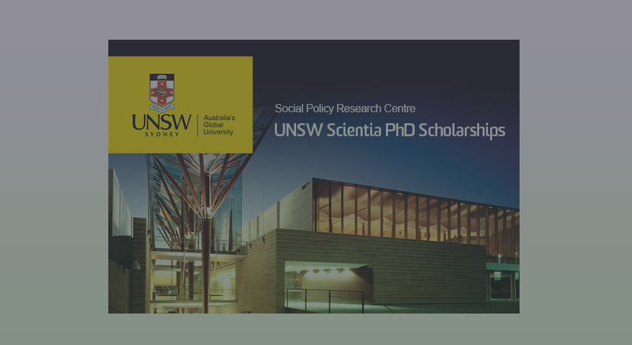Scientia PhD Scholarship opportunities at the Social Policy Research Centre, UNSW Sydney, Australia