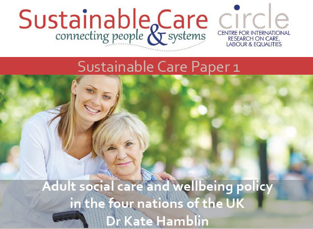 Adult Social Care and wellbeing policy in the four nations of the UK front cover