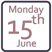 Monday 15th June