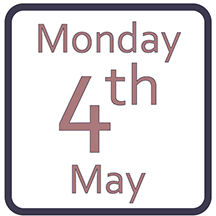 Monday 4th May
