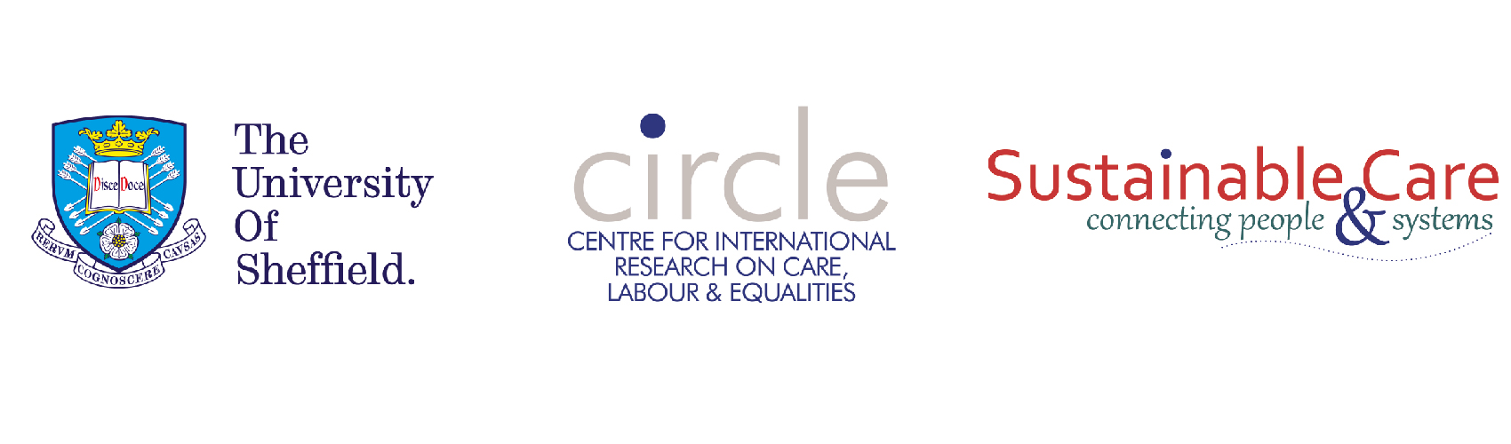 The University of Sheffield, CIRCLE and Sustainable Care logos