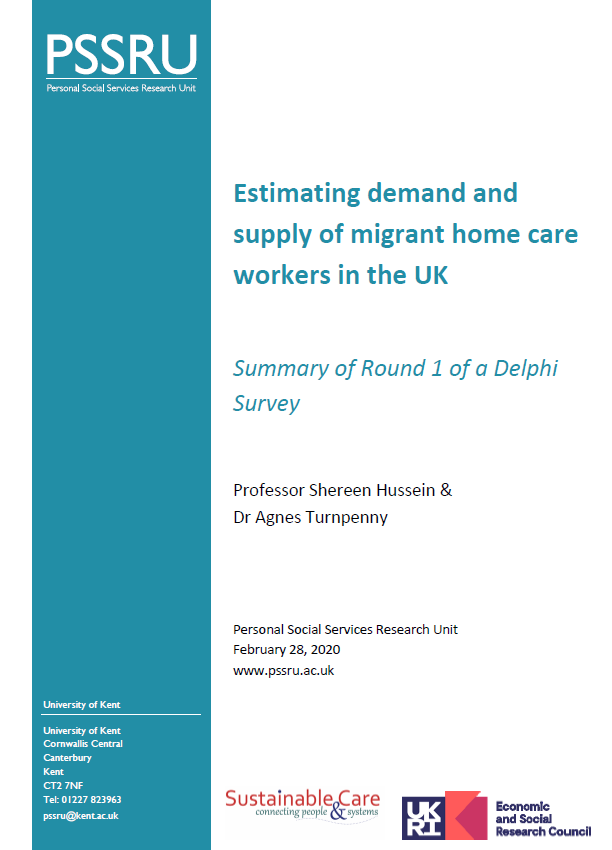 Estimating demand and supply of migrant home care workers in the UK