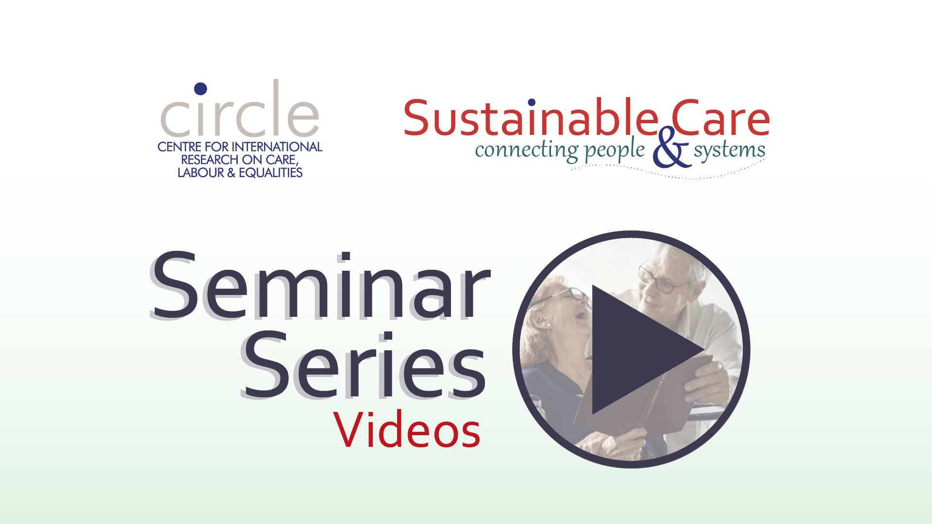 CIRCLE & Sustainable Care Seminar Series videos