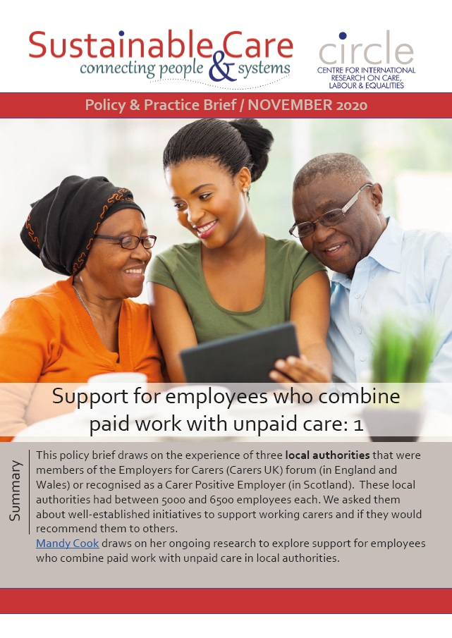 Support for employees who combine work with unpaid care 1