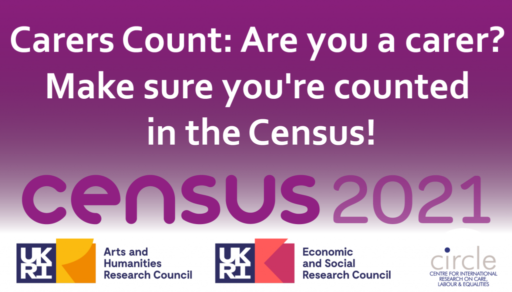 Carers Count: Are you a carer? make sure you are counted in the Census!