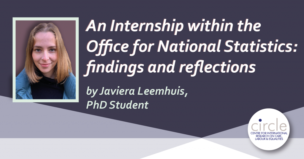 An internship within the Office for National Statistics by Javiera Leemhuis
