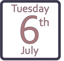 Tuesday 6th July